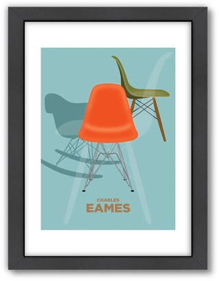 Charles Eames Americanflat Visual Philosophy ''Charles Eames 2'' Framed Wall Art