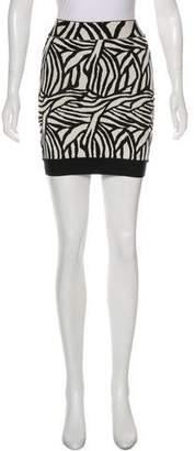 Herve Leger Patterned Mini Skirt