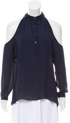 Artelier Cold Shoulder Long Sleeve Top