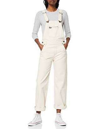 Lee Women's Wide Bib Dungarees, (White Fr), Small