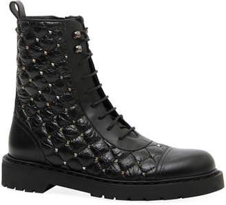 Valentino Rockstud Spike Combat Boot