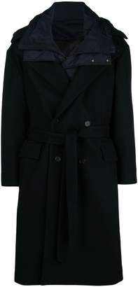 Juun.J oversized coat with detachable liner