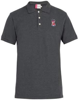 MAISON KITSUNÉ Acide Fox Applique Polo Shirt - Mens - Dark Grey