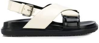 Marni thick strap Fussbett sandals