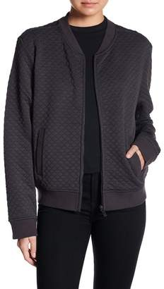 Coffee Shop Quilted Bomber Jacket
