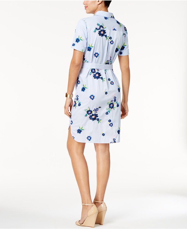 ECI Embroidered Shirtdress 2