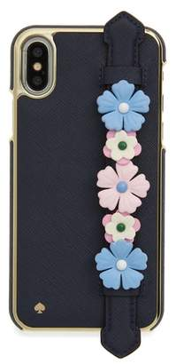 Kate Spade floral hand strap stand iPhone X case