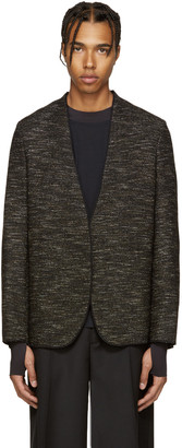 Maison Margiela Black Deconstructed Tweed Blazer $1,110 thestylecure.com