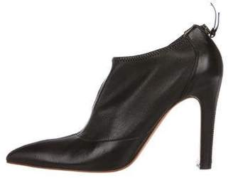 Alaia Leather Pointed-Toe Booties
