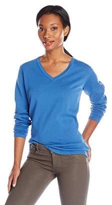 Dockers Women's V-Neck Cotton Sweater $24.45 thestylecure.com
