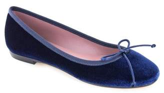 Summit from Italy Kendrick Faux Fur Lined Suede Leather Ballet Flat