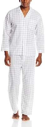 Geoffrey Beene Men's Big-Tall Plaid Broadcloth Pajama Set,XX-Large/Tall