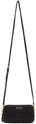 Miu Miu Black Mini Matelasse Bag