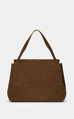 The Row Women's Top-Handle 14 Nubuck Satchel - Brown