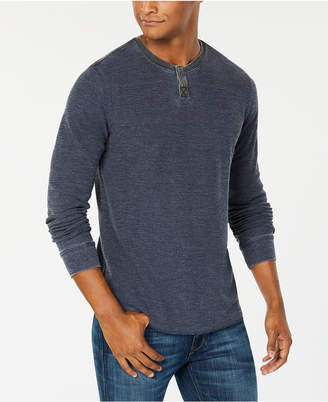 Lucky Brand Men Burnout Thermal Henley