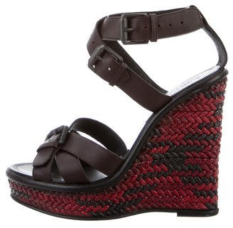 Bottega Veneta Bottega Veneta Leather Wedge Sandals