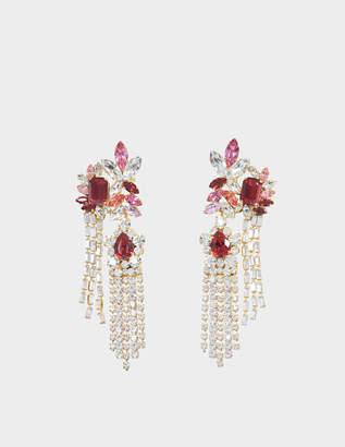 Shourouk Double leafs earrings