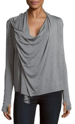 Paneled Cowlneck Top $92 thestylecure.com