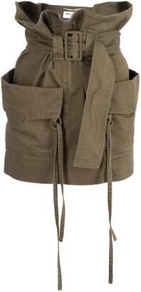Saint Laurent Cargo Mini Skirt With Paper-bag Waist