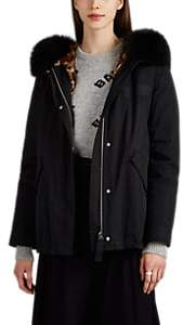 Army by Women's 3-In-1 Fur-Trimmed & -Lined Tech-Twill Down Coat - Black