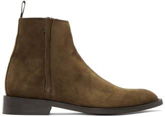Tiger of Sweden Brown Suede Rekry Zip Boots