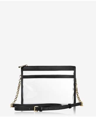 GiGi New York Leigh Anne Crossbody In Clear Bag With Black Vachetta Trim