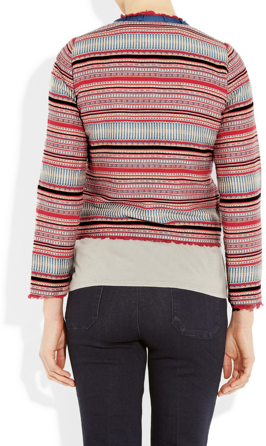MiH Jeans Cropped woven cotton jacket