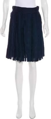 Zac Posen Z Spoke by Silk Knee-Length Skirt