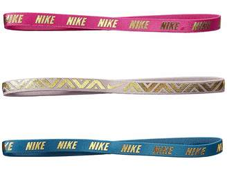 Nike Metallic Hairbands 3-Pack (Big Kids)