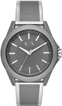 Armani Exchange Men Drexler Gray Polyurethane Strap Watch 44mm