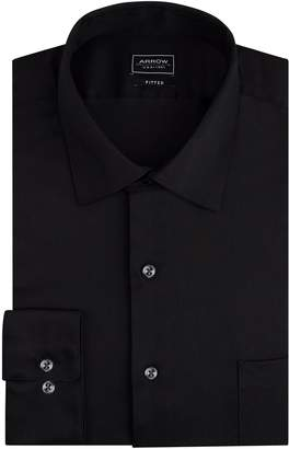 Arrow Men's Stretch Fitted Solid Spread Collar Dress Shirt