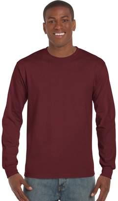 Gildan Mens Plain Crew Neck Ultra Cotton Long Sleeve T-Shirt (XL)