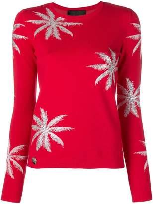 Philipp Plein floral embroidered sweater