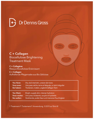 Dr. Dennis Gross Skincare C+Collagen Biocellulose Brightening Treatment Mask (1 Application)