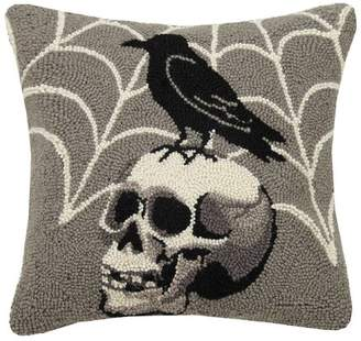 The Holiday Aisle Colon Crow on Skull Hook Pillow Lumber Pillow