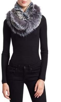 The Fur Salon Rabbit& Fox Fur Infinity Scarf