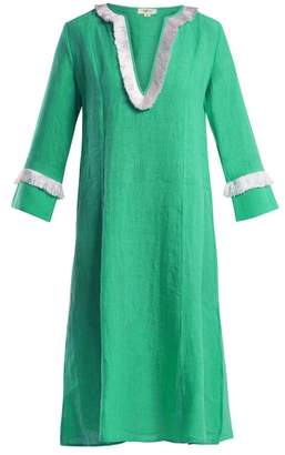 Daft - Capri Fringed Linen Dress - Womens - Green