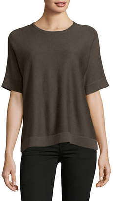 Eileen Fisher Short-Sleeve Ribbed Top
