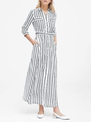 Banana Republic Stripe Maxi Shirt Dress