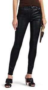 J Brand Women's Maria Coated High-Rise Skinny Jeans - Black