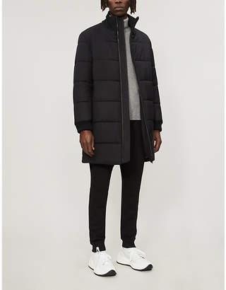 HUGO Padded stretch-wool-blend coat
