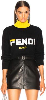 Fendi Mania Logo Oversized Sweater