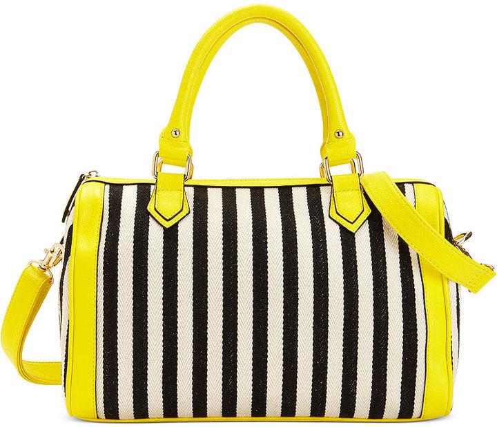 Sondra Roberts Handbag, Striped Canvas Satchel