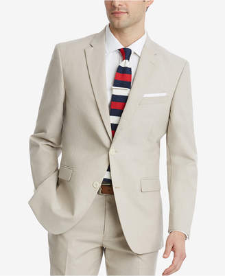 Tommy Hilfiger Closeout! Men's Modern-Fit Flex Stretch Tan Suit Jacket