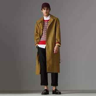 Burberry Shrunken Check Bonded Cotton Car Coat