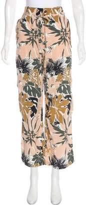 Rag & Bone High-Rise Wide-Leg Silk PAnts