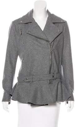 Moto Alani The Grey Wool-Blend Jacket