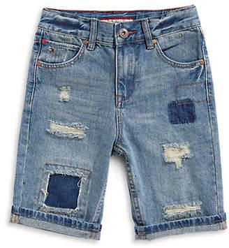 Tommy Hilfiger Ripped Denim Bermuda Shorts