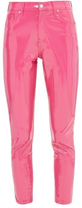 TopshopTopshop Moto pink vinyl jamie jeans