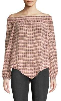 Derek Lam Striped Off-The-Shoulder Blouse